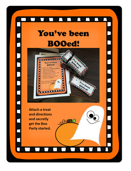 You've Been BOOed!  Staff Morale Booster