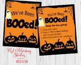 You've Been Boo'd Door Sign and Instructions