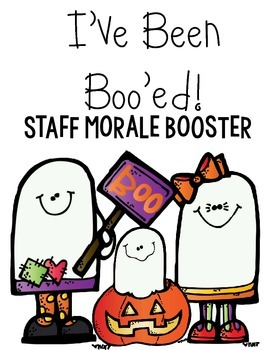 photograph relating to We Ve Been Booed Printable titled Youve Been Booed Staff members Morale Booster