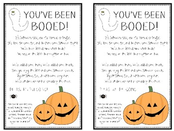 image relating to You've Been Booed Printable Pdf identified as Youve Been Booed Worksheets Training Products TpT