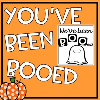 photo about You've Been Booed Printable Pdf identified as Youve Been Booed Worksheets Instruction Elements TpT
