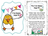 You've Been Egg'd Door Sign & Instructions