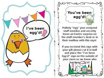 You've Been Egg'd Door Sign & Instructions