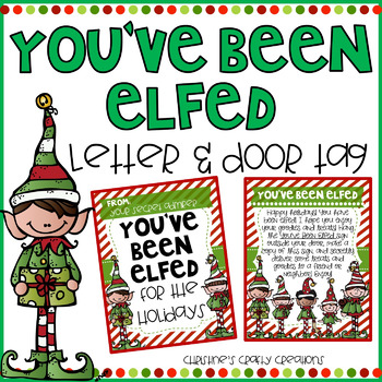 graphic regarding You've Been Elfed Printable known as Youve Been Elfed Worksheets Schooling Components TpT