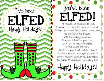 You've Been Elfed-Elf Fun-Elf Printable