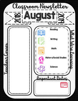 {Editable} Classroom Newsletter with Ink-Friendly Option