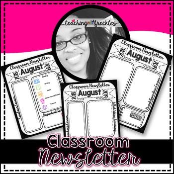 Classroom Newsletter | Editable | Ink-Friendly