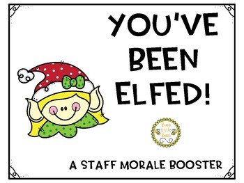 picture about You've Been Elfed Printable called Youve Been Elfed Worksheets Training Supplies TpT