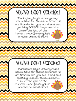 photo relating to You Ve Been Socked Printable named Youve Been Gobbled Worksheets Education Elements TpT