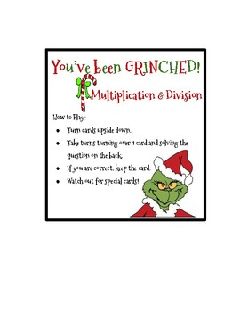 You've Been Grinched! Multiplication & Division Game