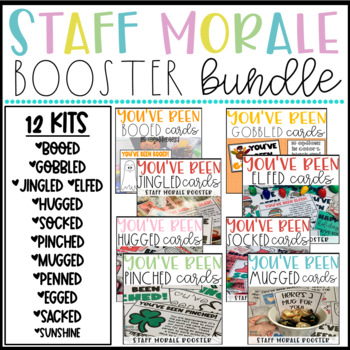 You've Been Kits for a Teacher and Staff Morale Booster - Staff Sunshine