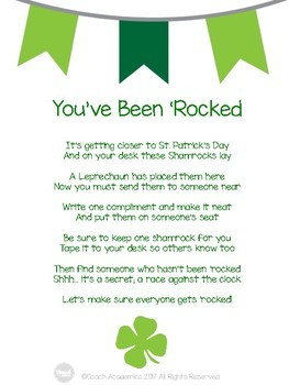 You've Been 'Rocked St. Patrick's Day Compliment Activity