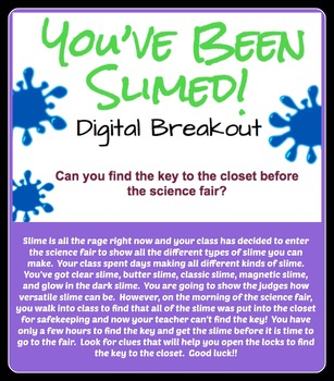 You've Been Slimed! Digital Breakout