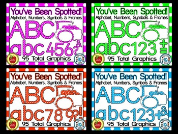 You've Been Spotted Clip Art Letters BUNDLE
