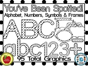 You've Been Spotted Clip Art Letters | Black & White
