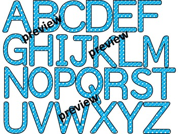 You've Been Spotted Clip Art Letters | Blue