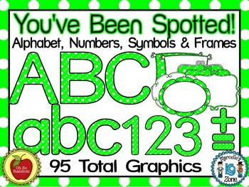 You've Been Spotted Clip Art Letters | Green