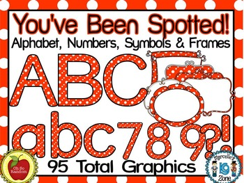 You've Been Spotted Clip Art Letters | Orange