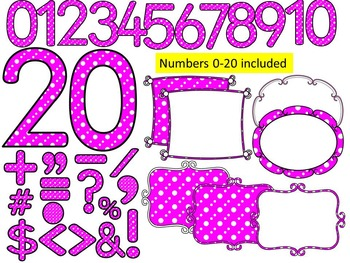 You've Been Spotted Clip Art Letters | Pink