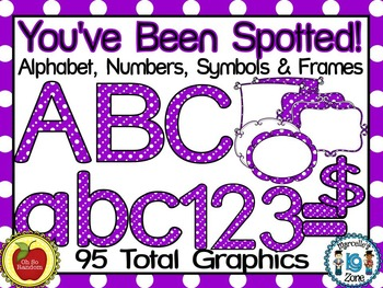 You've Been Spotted Clip Art Letters | Purple