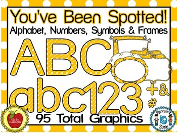 You've Been Spotted Clip Art Letters | Yellow