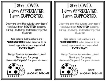 You've Been Spotted! Teacher Appreciation Gift Giving Exchange
