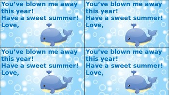 You've Blown Me Away Summer Gift Tag