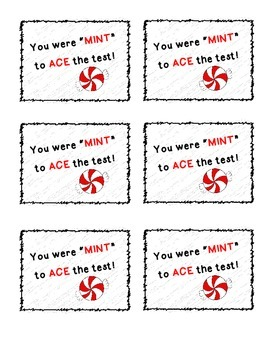 "You were ""MINT"" to ACE the Test Motivational Notes"