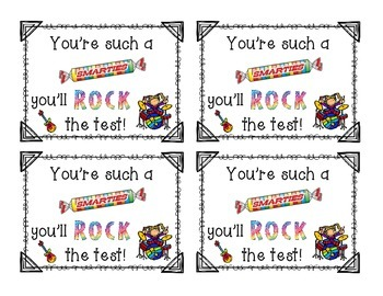 You will ROCK the Test! Student Testing Reward Tags (FREEBIE)