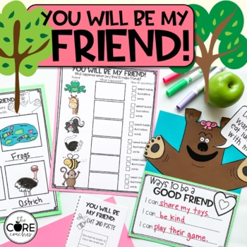 You will be my Friend: Interactive Read Aloud Lesson Plans and Activities