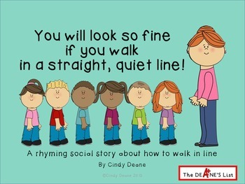 Social Stories for Autism: Looking fine in a straight, quiet line!