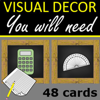 You will need cards - 48 cards Farmhouse style