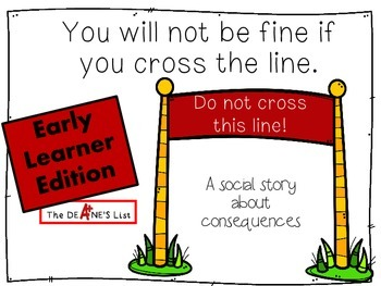 Social Stories for Autism: You will not be fine if you cross the line