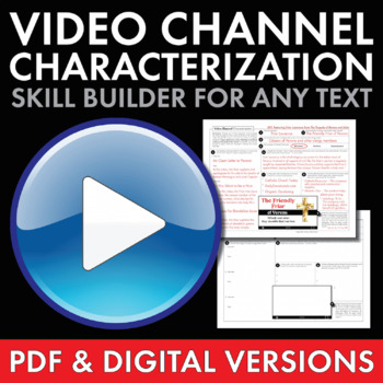 Video Channel Characterization Writing Activity, Use with ANY Lit., Grades 6-12