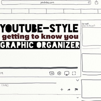 YouTube Getting to Know You graphic organizer