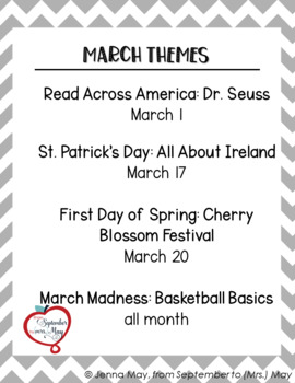 YouTube Listening Guides for March - Read Across America, St. Patrick's Day