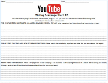 YouTube Scavenger Hunt 2