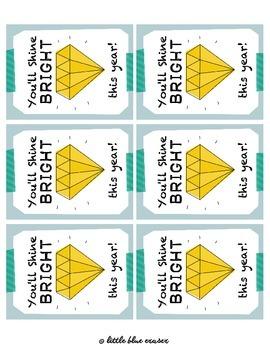 You'll Shine Bright - Printable Cards