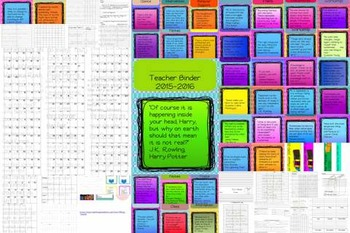 Young Adult Book Quotes Themed Teacher Binder
