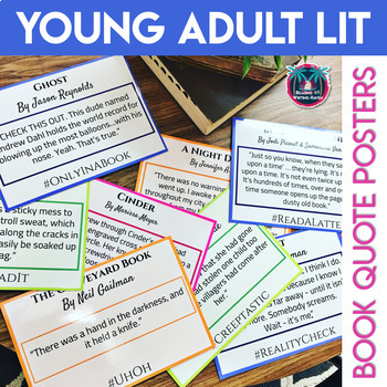 Young Adult Literature Book Quote Posters Editable