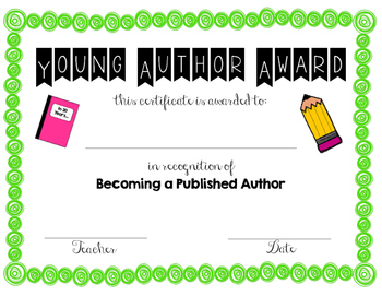 Young Author Award