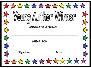 Young Author Awards Pack