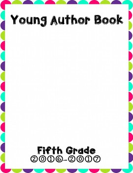 Young Author Book Cover {Fifth Grade}
