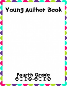 Young Author Book Cover {Fourth Grade}