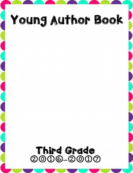 Young Author Book Cover {Third Grade}