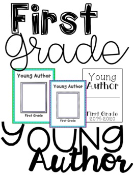 Young Author Cover Page {First Grade}