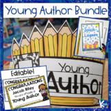 Young Author Crown, Editable Award Certificates and Book P