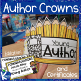 Young Author Crown and Editable Award Certificates