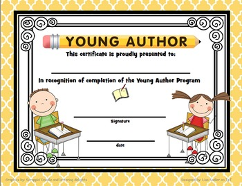 Young Author Participation/Completion/Top Honors Awards