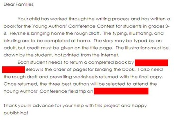 Mimio-Young Authors' Conf.: writing stages to publish a book -2 weeks (3rd-8th)